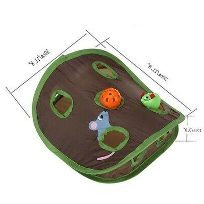 Pet Mice Intelligence Play Tent With 9 Holes Play Tunnel