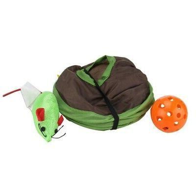 Pet Cat Play Toys Tent With 9 Play