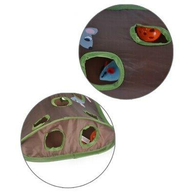 Pet Cat Intelligence Play Toys With 9 Holes Play Tunnel