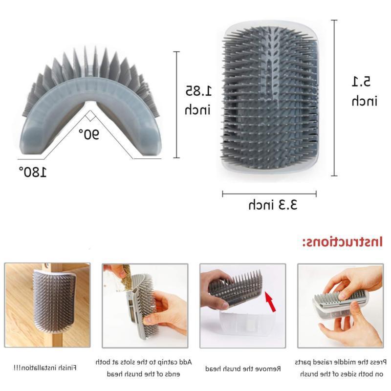 Pet Groomer Brush Corner Massage Comb Toy Catnip