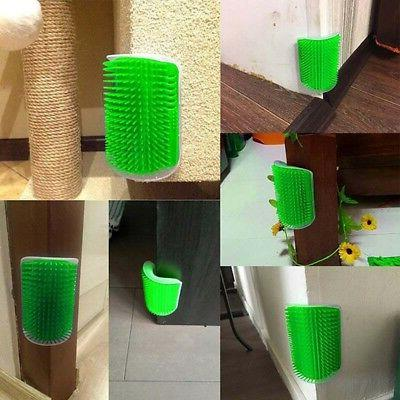 Pet Cat Self Groomer Brush Cleaner Wall Corner Grooming Mass