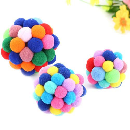 Pet Colorful Handmade Bouncy Built In Catnip Interactive~ToyS