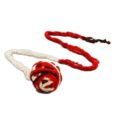 Pet Toy Long String Plush Ball Rolling Playing Toys US