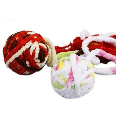 Pet Cat Toy Long String Plush Rolling Play Toys