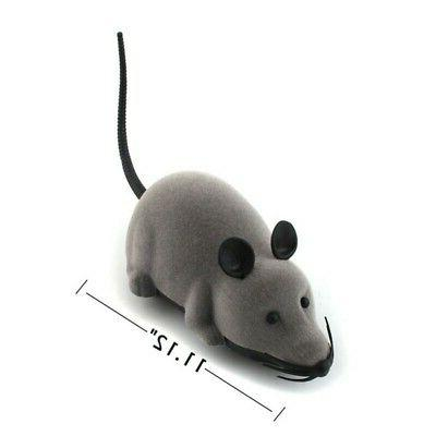 Pet Cat Dog Remote Control Toy Fake Mice Mouse Prank Mock Wireless