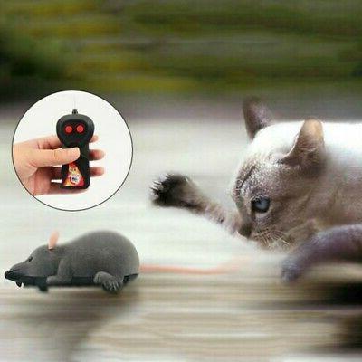 Pet Cat Control Toy Mice Prank Mock Wireless RC