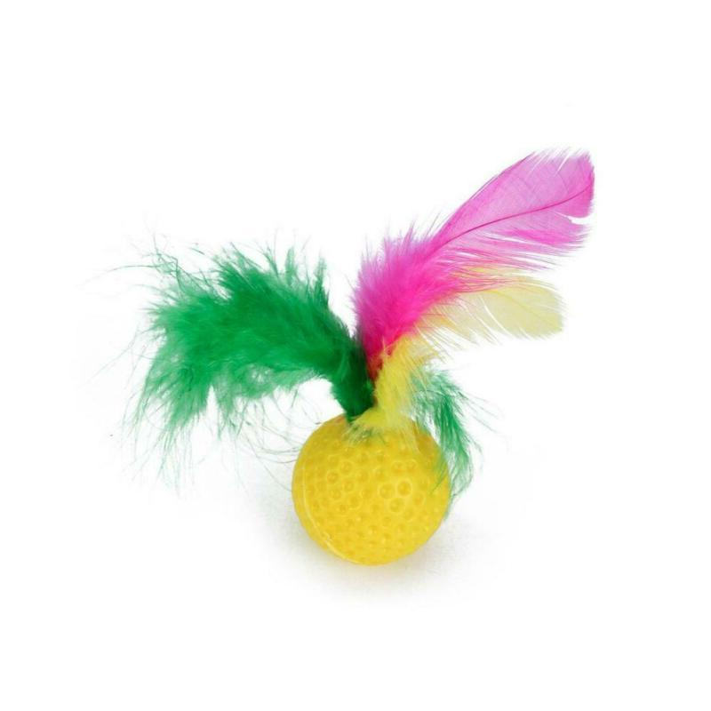 Pet Toys Bell Catnip Feathers Wand