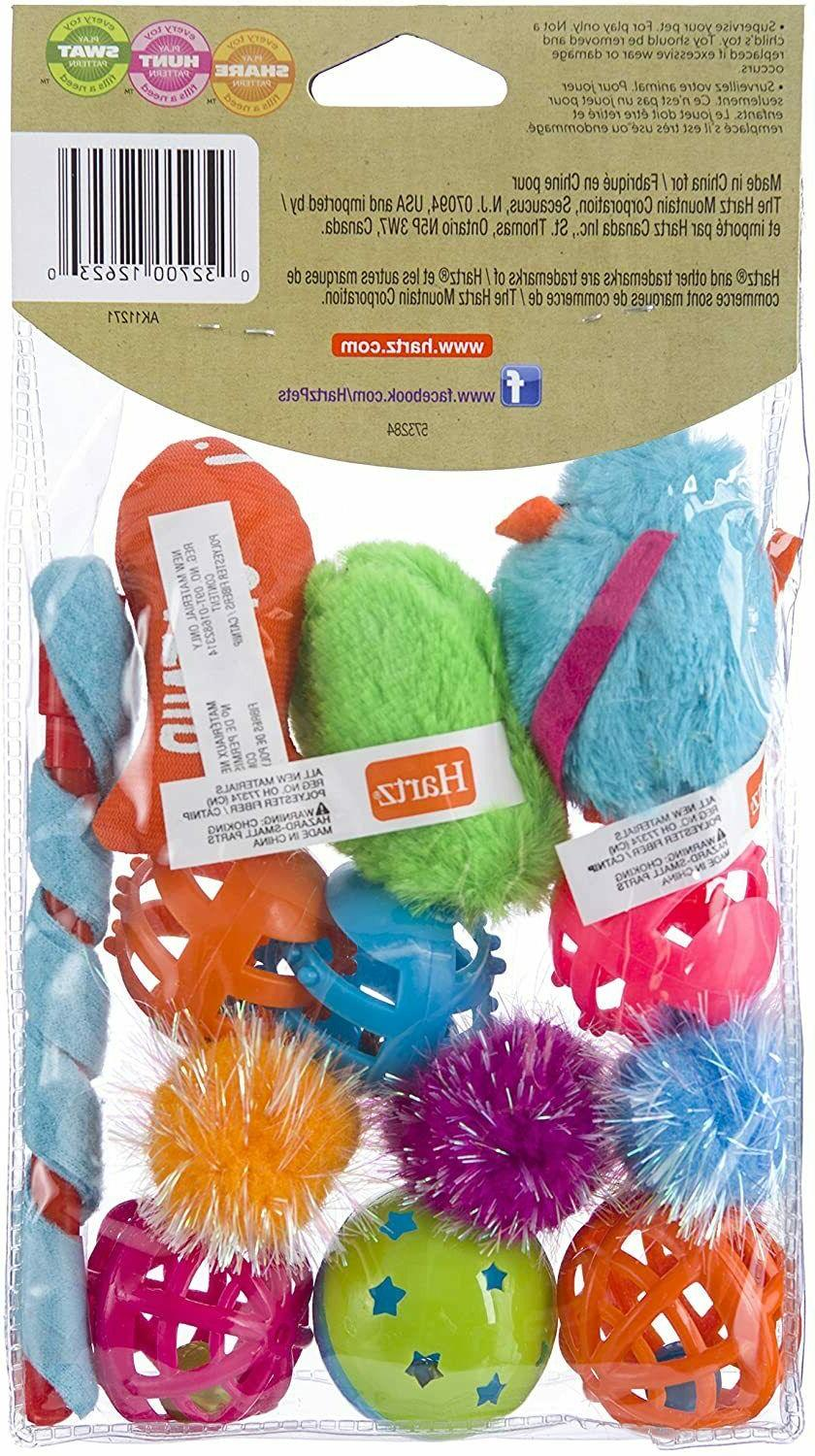 Pet Cat Toys Balls Variety Pack Soft Durable For of Paw Some Toys