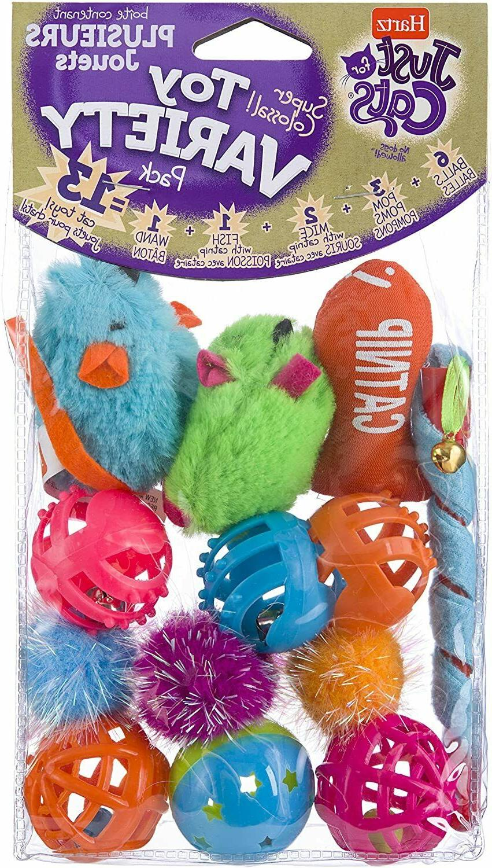 pet cat toys balls variety pack soft