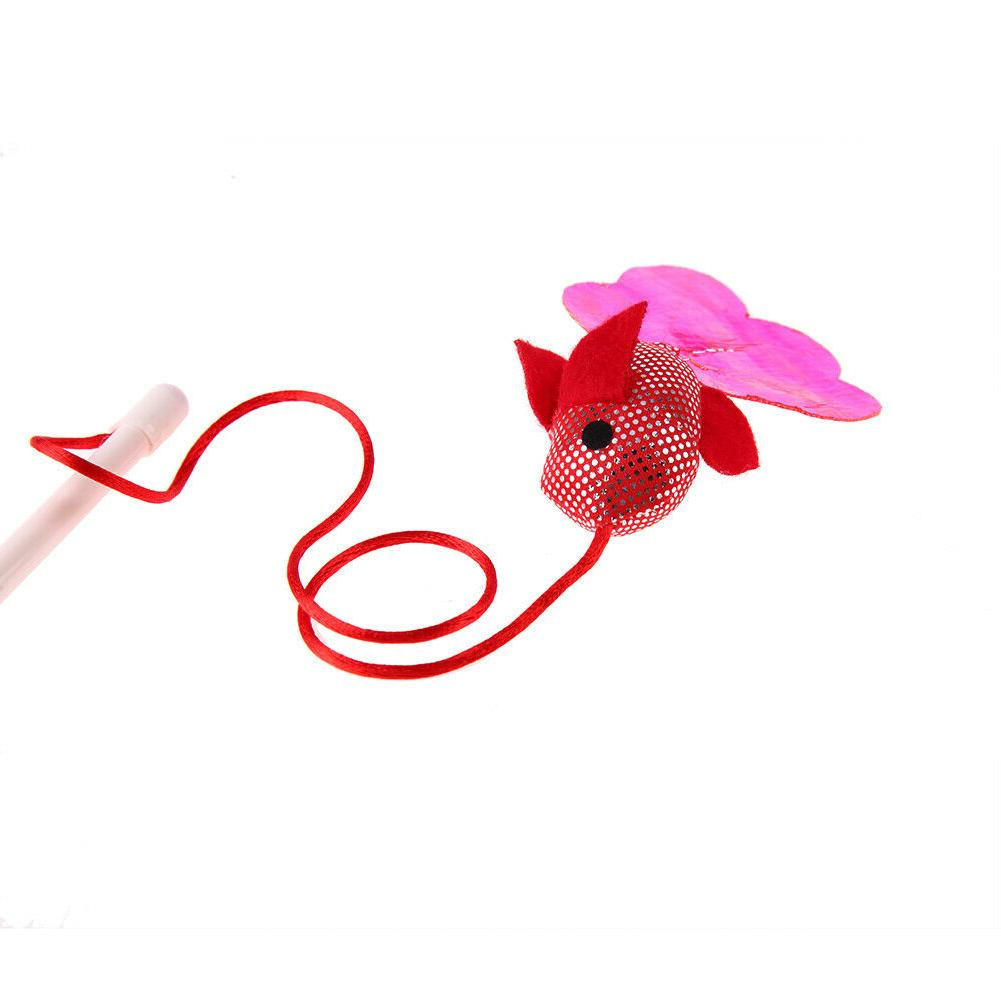 Pet Cat Toys Funny Cat Stick Teaser Wand Wire Cat Toy
