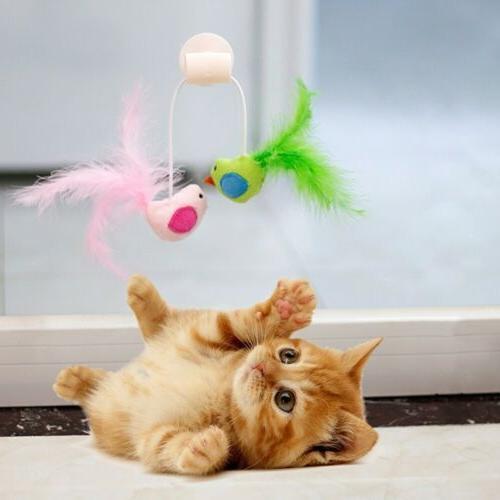 Pet Cat Bird Design Window Sucker Toy
