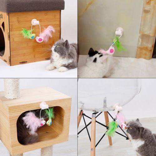 pet cat toys interactive bird design toy