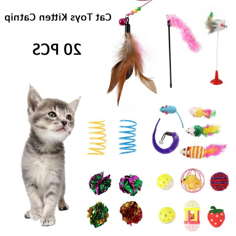 pet cat toys lot bulk mice balls