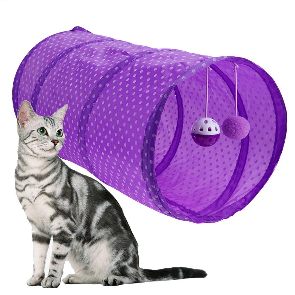 Pet Cat Outdoor Game Playing Bell Ball