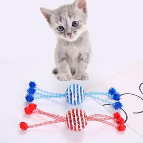 Pet Cat Kitten Catch Chew Toy Dog Funny Ball