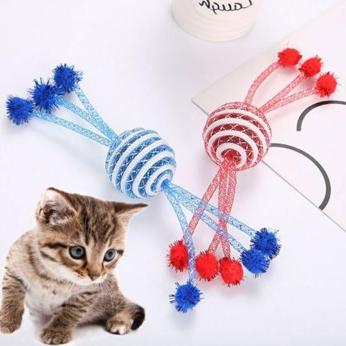 Pet Kitten Catch Chase Toy Funny Interactive Ball