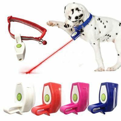Pet Dog Cat Collar Laser Light Fun Training Toys  Kitten Int