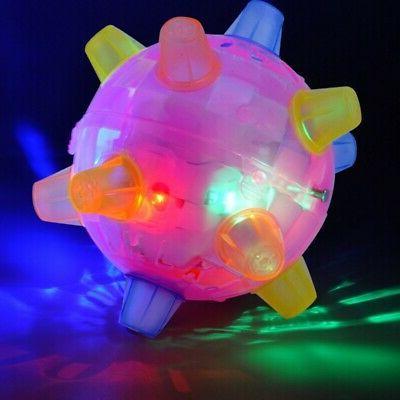 pet dog cats flashing ball toy