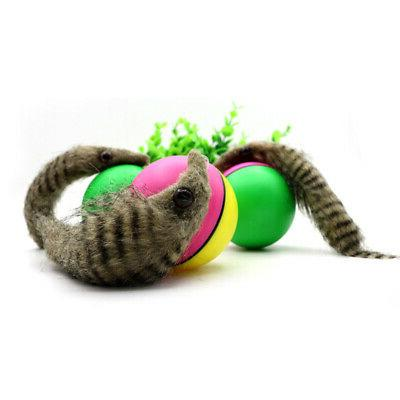 Pet Dog Electric Weasel Rolling Jump Ball Toys For Dog
