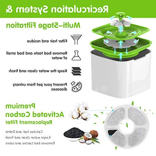 MOSPRO Water - Flower Drinking Ultra Quiet Automatic Bowl with for Dogs Caring Hygienic