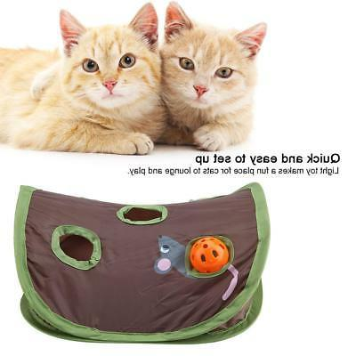 Pet Mice-shape Toy Bell Ball Holes Cat Play Tunnel