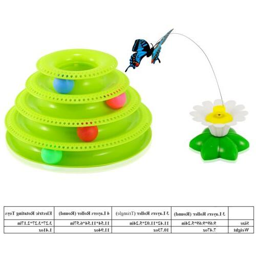 Pet Cat Ball Disk Interactive Amusement Plate US