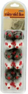 Petmate Soft Bite Cat Toy, Small, 12-Pack, Fur Mice
