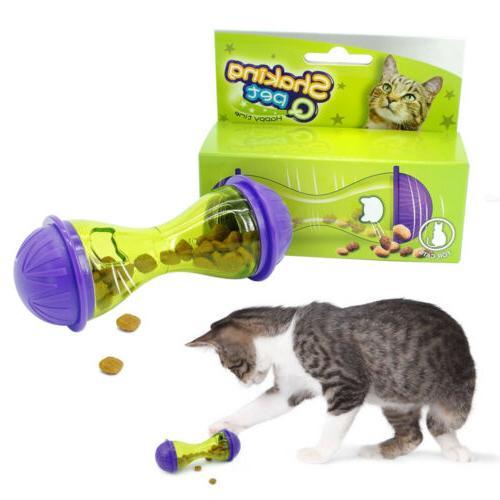 pets dog cat toys leakage food dispenser