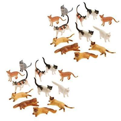 plastic cat figures 24 count 2 assorted