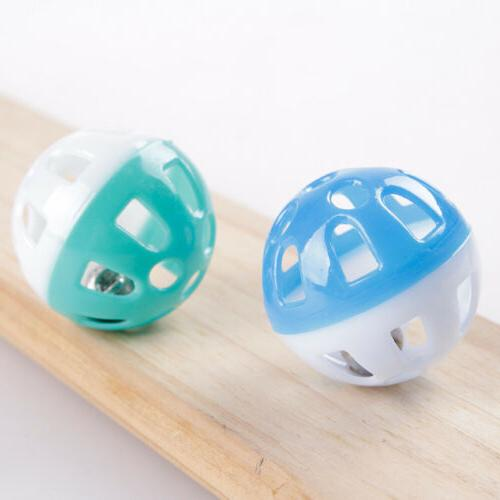 Plastic Puppy Cat Bell Chase Rattle Funny Toys