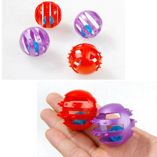Plastic Round Play Bell Pounce Chase Rattle Funny Toys