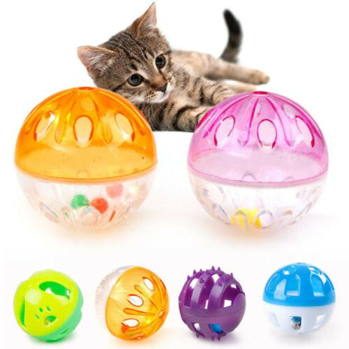 Plastic Puppy Kitty Round Bell Funny Toys