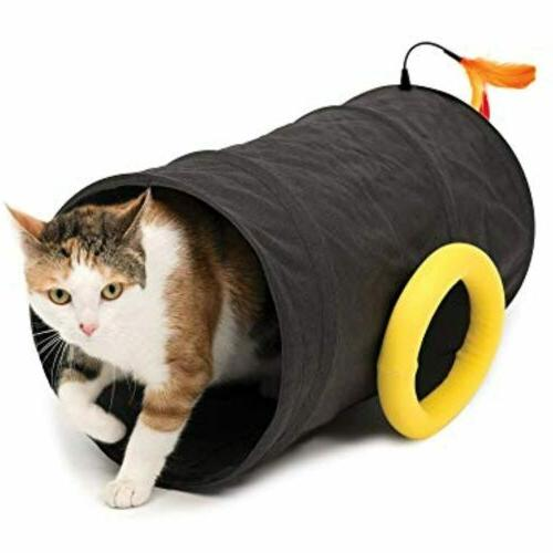 play cat toy pirate cannon tunnel