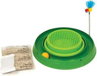 Catit Play Circuit Ball Cat Toy with Pad 43002,