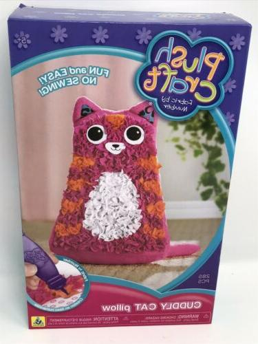plush craft cuddly cat pillow
