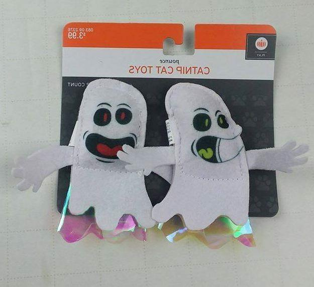 pounce catnip ghosts cat toys 2 count