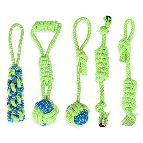 puppy chew teething rope knots