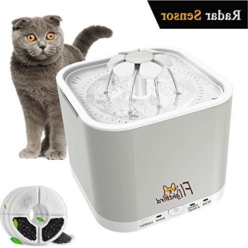 radar sensing pet water fountain