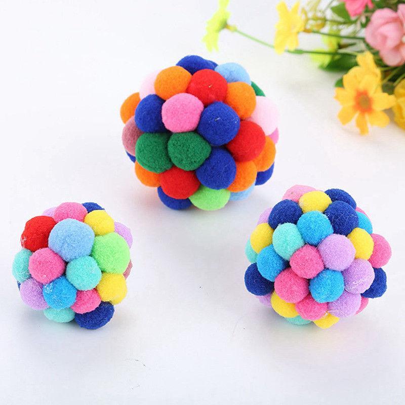New Cat Colorful Handmade Bells Ball Interactive