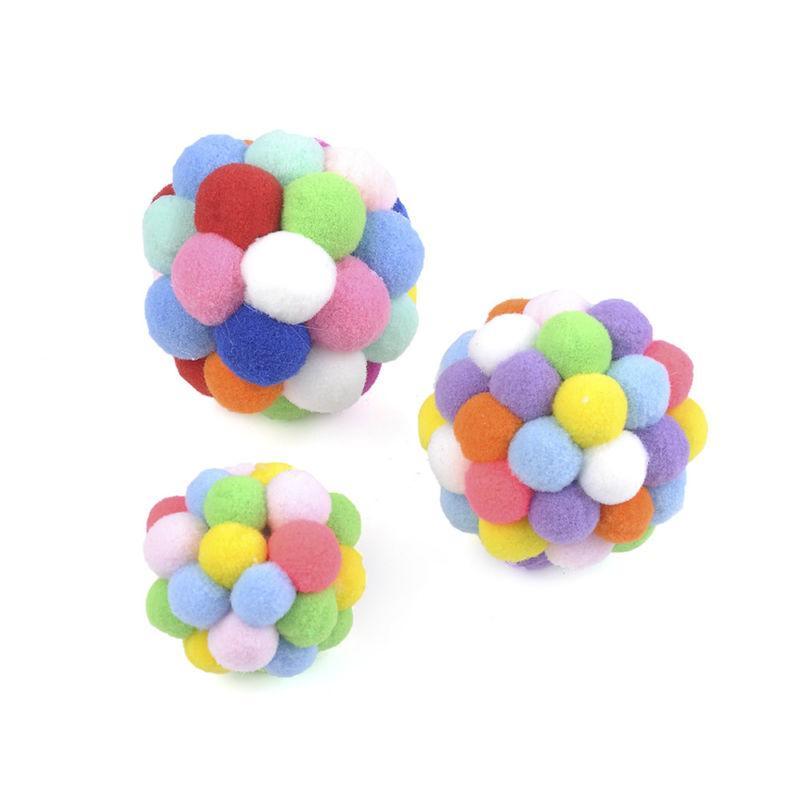 New Pet Colorful Handmade Ball Catnip