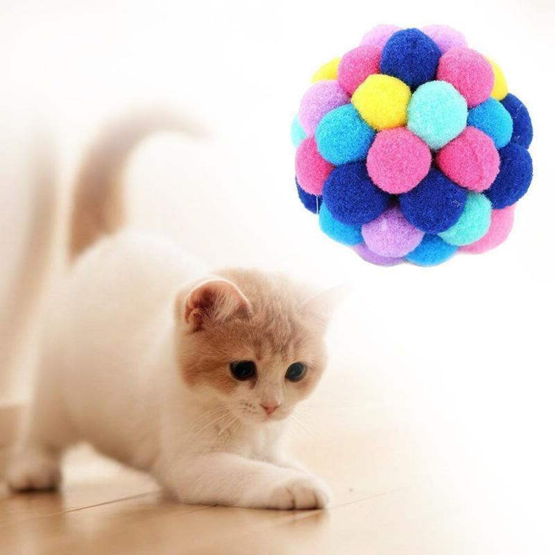 New Cat Colorful Handmade Bells Bouncy Ball
