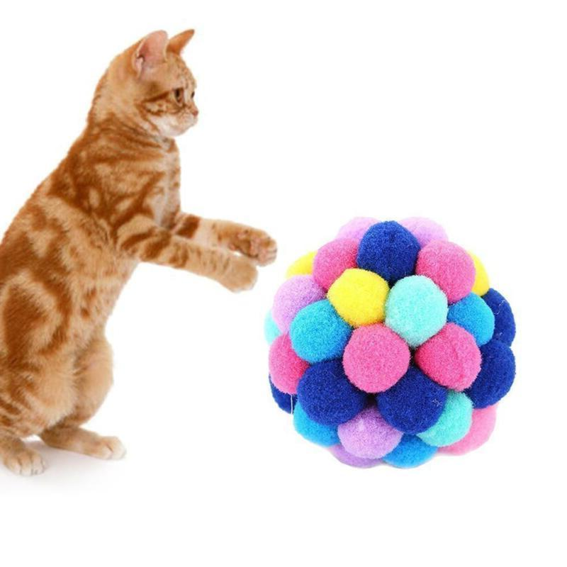 New Pet Toys Colorful Handmade Ball