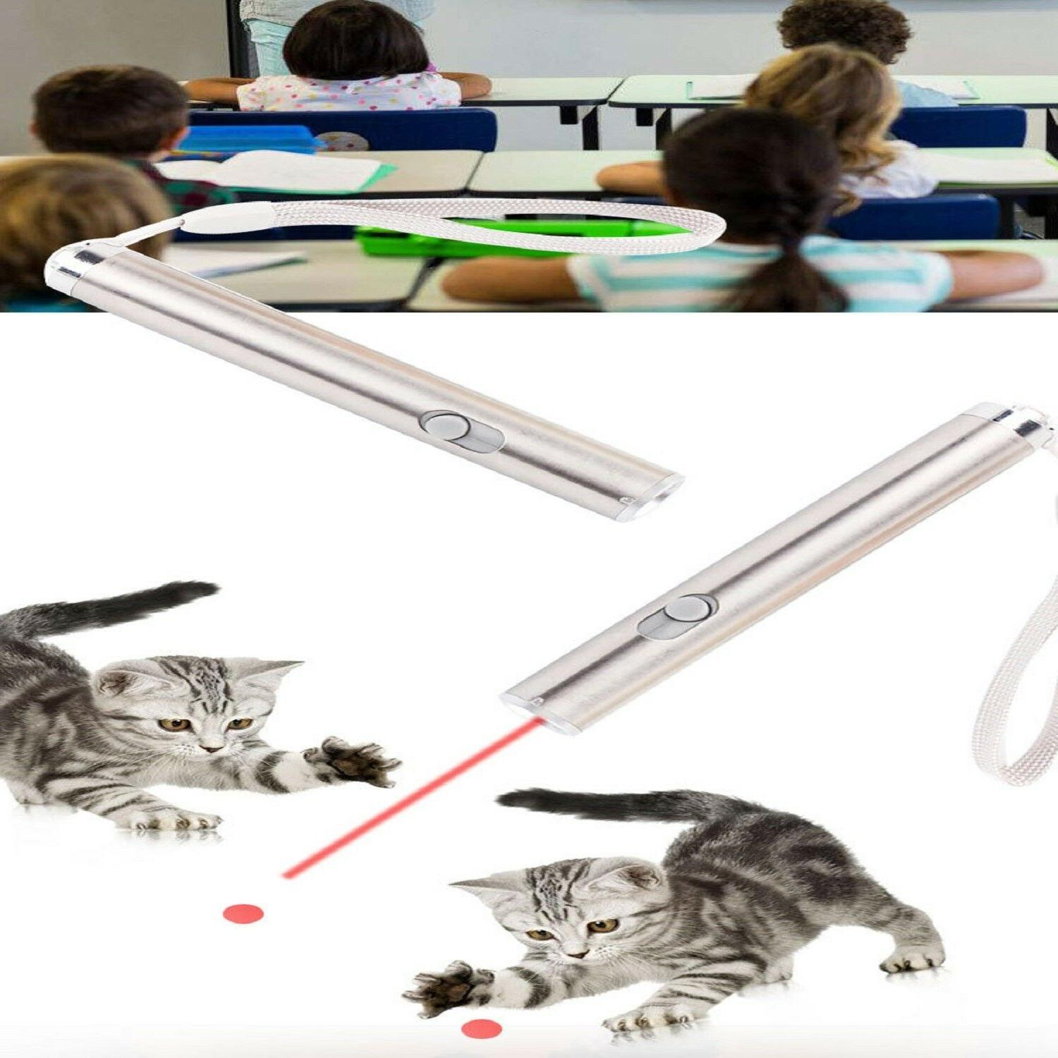 Red Laser Small Silver Pointer Toys For Pet Cat Dog