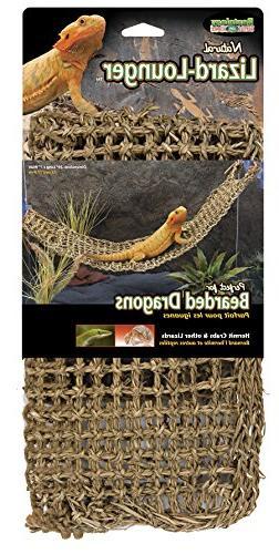 Penn Plax Lizard Lounger, 100% Natural Seagrass Fibers For A