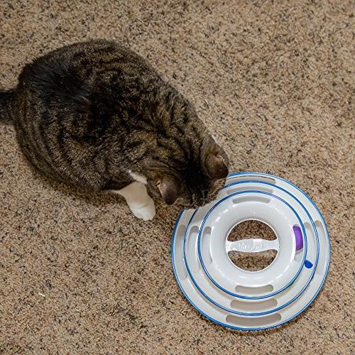 Easyology Amazing Toy Toys Interactive with 3-Levels - Kitty Charmer for and Exercise for Kittens Cat Teaser and Best
