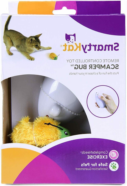 scamper bug cat toy remote