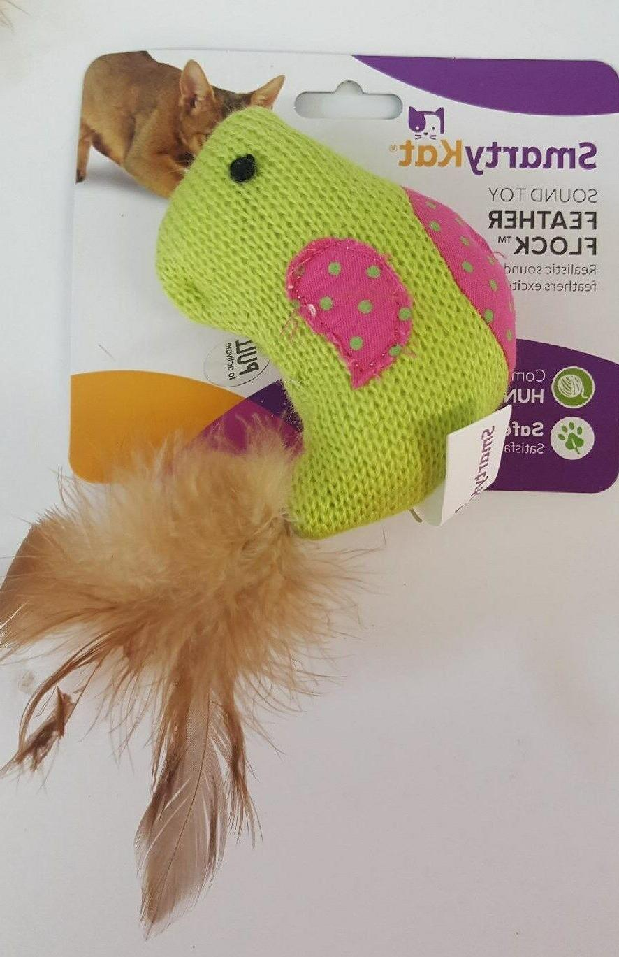 Smarty Kat Feather Flock Sound Cat Toy With Realistic Bird