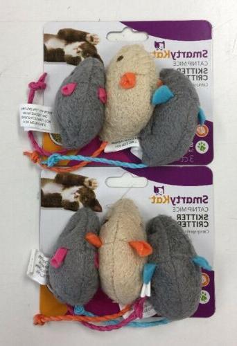 skitter critters catnip mice cat toys 2