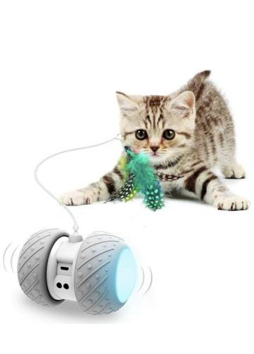 smart electronic cat toys feathers birds toys