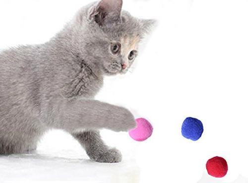 PET Cat Balls Kitten Toys Pompon Color 50